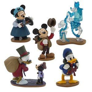 6 piece Disney Mickey's Christmas Carol Figurines